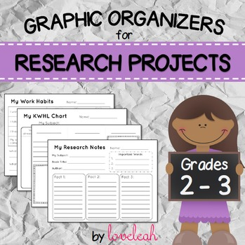 Research Project Graphic Organizers Grades 2 - 3