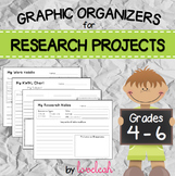 Research Project Graphic Organizers Grades 4 - 6