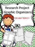 Research Project Graphic Organizers for ANY TOPIC