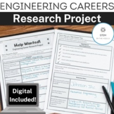 Engineering Career Research Project Bundle Distance Learning