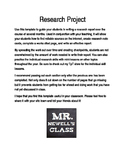 Research Project Instructions