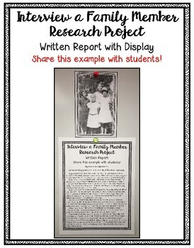 Interview a Family Member Research Project