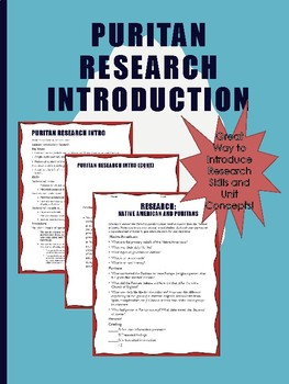 Research Project Introduction to Early American Literature