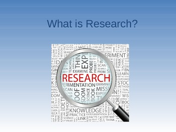Research & Project Lessons with activities BUNDLE