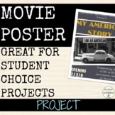 Movie Poster Project for ALL subjects with Editable Rubric