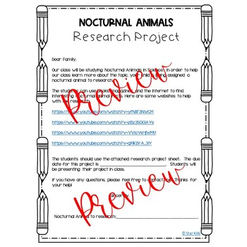 Research Project {Nocturnal Animals}