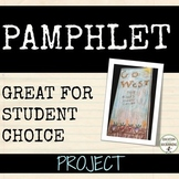 Pamphlet Project for ALL subjects EDITABLE Distance Learning