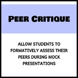 Research Project Peer Critique