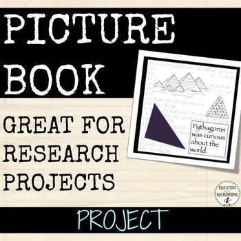 Picture Book project for social studies and more...