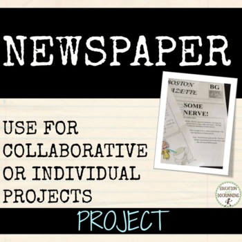Newspaper Research Project for Social Studies