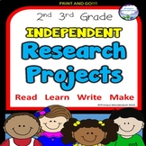 Independent Research Projects Templates 2nd,  3rd  Grades