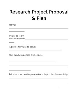 Research Project Proposal and Planning Guide