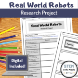 Robot Research Project Bundle Distance Learning