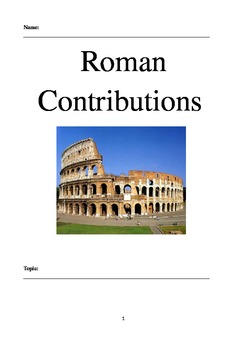 Research Project - Roman Contributions