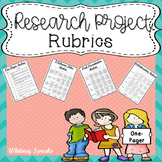 Research Project Rubrics (EDITABLE):  One-Pager, Collabora
