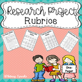 Research Project Rubrics: One-Pager, Collaboration, 2-Column Notes, Presentation