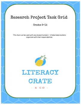 Research Project Task Grid