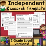 Research Project Template Printable PDF and Distance Learning