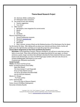 Writing:Research Project - Theme-Based