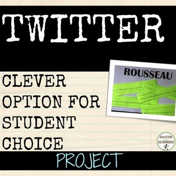Twitter feed social studies and history research project