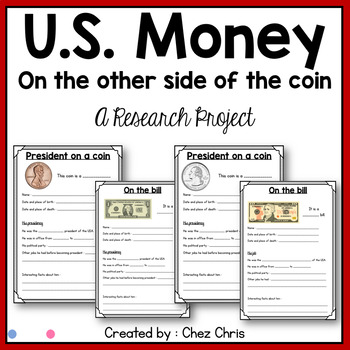 Research Project : US money - On the obverse of coins and bills