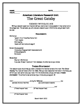 research papers on the great gatsby F scott fitzgerald's the great gatsby develops a theme of greed and constant discontent within the main characters through literary elements such as tone, symbolism, imagery, and dialogue.