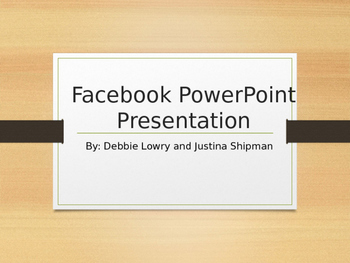 Research Project: Using a Facebook Template in PowerPoint