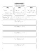 Student Research Project Worksheets