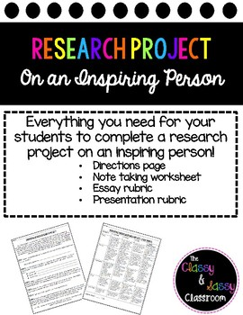 Research Project for Middle School Students