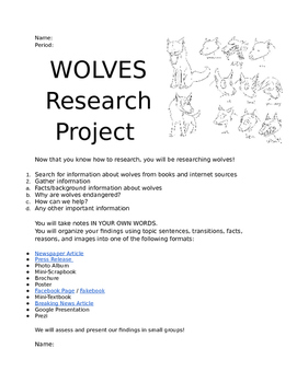 Research Project for Middle Schoolers!