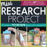 Research Project with 3-D Picture Frames to Display Resear