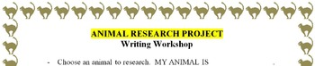 Research Project with Informative Writing Topic of Animals