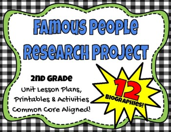 Research Projects Unit Plans ~ Famous People
