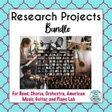 Research Projects bundle: Band, Orchestra, Chorus, America