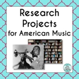 Research Projects for American Music (Distance Learning)