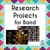 Research Projects for Band (Distance Learning)