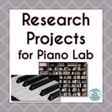 Research Projects for Piano Lab