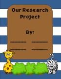 Research Projects in Kindergarten! Easy Peasy!