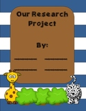 Research Projects in Kindergarten! Easy Peasy!