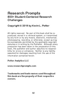 Research Prompts: 800+ Student-Centered Research Challenges Chapter 18