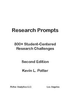 Research Prompts: 800+ Student-Centered Research Challenges Chapter 5