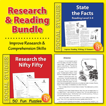 Research & Reading Activities for the 50 States {Bundle}