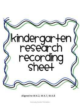 Animal Research Recording Sheet