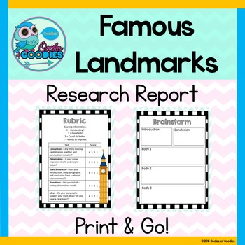 Research Report - Famous Landmarks (No Prep)