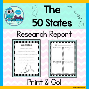 Research Report - The 50 States (No Prep)