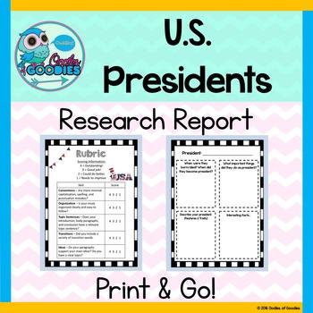 Research Report - U.S.Presidents (No Prep)
