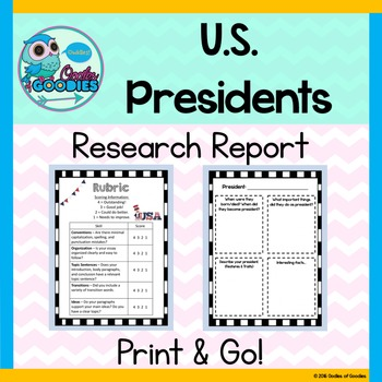 Research Report - U.S.Presidents (No Prep)