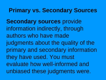 Research Report: Using Creditable Sources