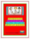 Differentiated Research Report Graphic Organizer:  Important Scientist