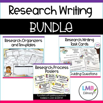 Research Resources Bundle-Posters, templates, task cards and more!